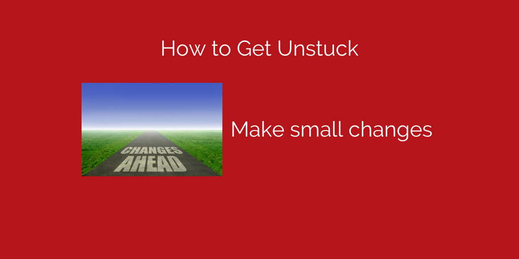 make small changes